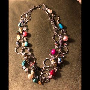 Jewelry - Multi chain multicolor necklace